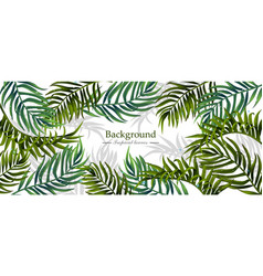 tropical leaves realistic background vector image