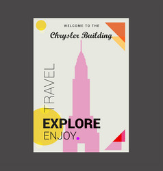 Welcome to the chrysler building manhattan new vector