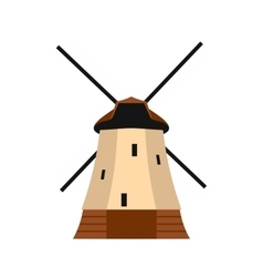 Windmill icon in flat style vector image