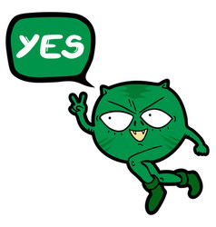 yes win vector image