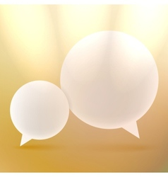 Abstract background with Speech bubbles on gold vector image