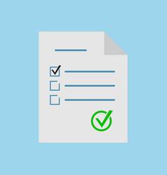 exam test icon vector image vector image