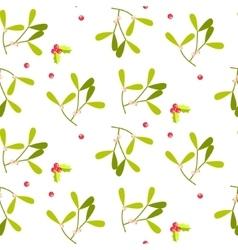 Mistletoe leaves seamless pattern vector image vector image