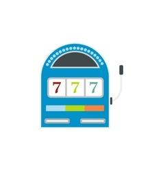 Slot machine jackpot flat icon vector image
