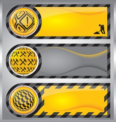 Under-construction banners vector image