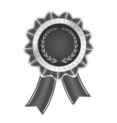 Gray Award Ribbon vector image