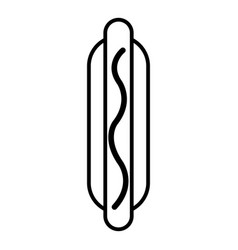 hot dog icon outline line style vector image vector image