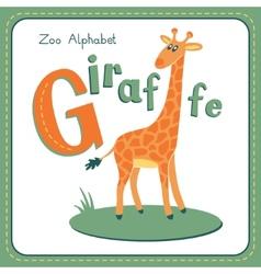 Letter G - Giraffe vector image
