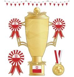 poland football trophy vector image vector image