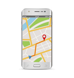 smart phone with gps navigation vector image