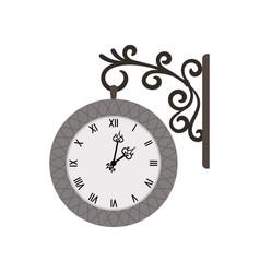 street vintage wall clock vector image