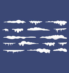 various white blocks of ice vector image