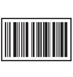 barcode icon black bar code icon symbol about vector image vector image