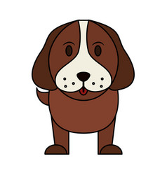 color image cartoon front view dog animal vector image vector image