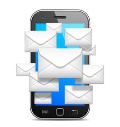 Mobile communication concept vector image