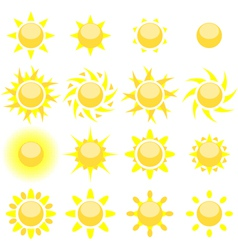 sun set vector image vector image