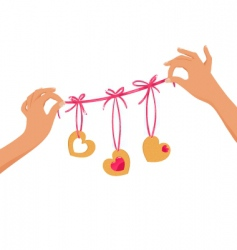valentine ribbon vector image