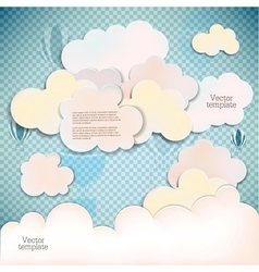 White banners and bubbles for speech vector image