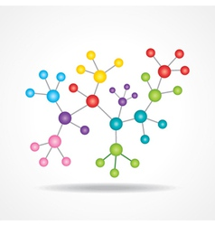 3d chemical color atomic structure molecule modeL vector image