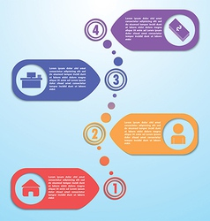Four steps design template Infographic background vector image