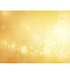 Golden sparkling star and snowflake border vector