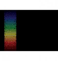 rainbow spectrum banner vector image vector image