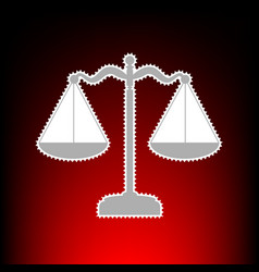 scales balance vector image