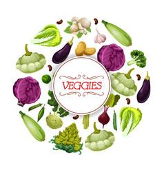 veggies and vegetables vegetarian poster vector image vector image