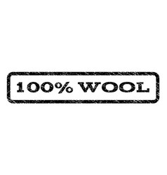100 percent wool watermark stamp vector