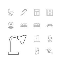 13 interior icons vector