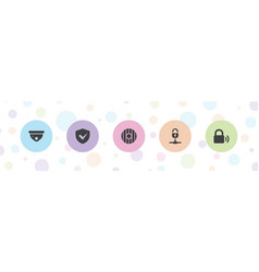 5 privacy icons vector