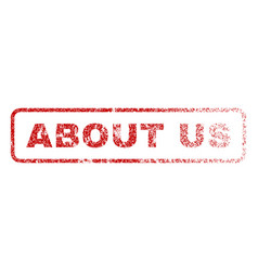 about us rubber stamp vector image