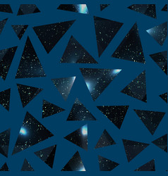 Abstract triangle pattern with grunge effect vector