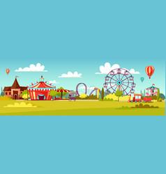 amusement park cartoon of vector image