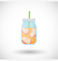 Apple smoothie flat icon vector
