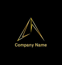 arrow shape triangle logo vector image