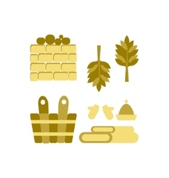 Bath and sauna Accessories vector