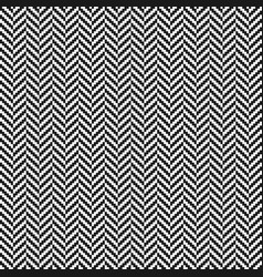 black and white herringbone tweed seamless pattern vector image