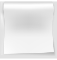 Blank white sheet of curved vector image