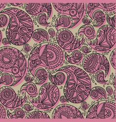 boho cruft vibes traditional paisley seamless vector image