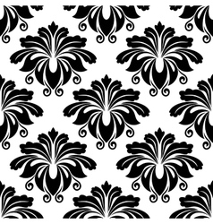 Bold dainty floral seamless pattern vector