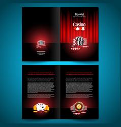 Booklet catalog brochure folder casino game vector