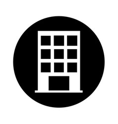 Building exterior front isolated icon vector