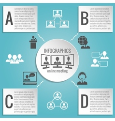 Business people meeting infographics vector
