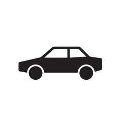 car icon in flat style for apps ui websites black vector image