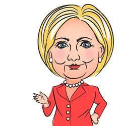 Caricature hillary clinton vector