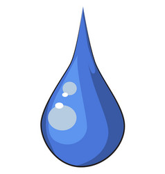 cartoon image of water drop vector image