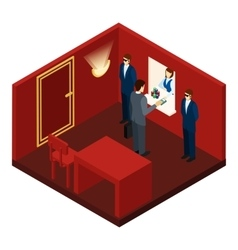 Casino And Gambling Isometric vector image vector image