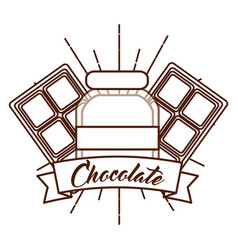 Chocolate cocoa card vector