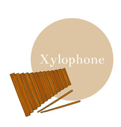 Colored xylophone in hand-drawn style vector